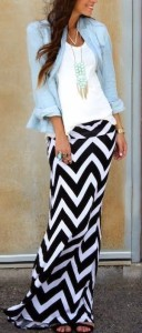 chevron skirt