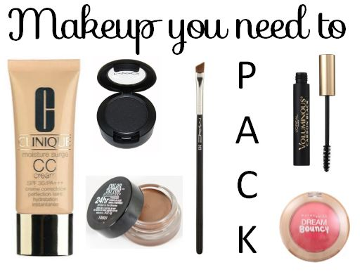 makeup you need to pack