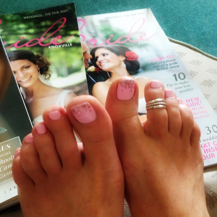 wedding day toes