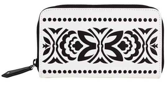 vera bradley, black and white wallet, wallet, laser cut, west town mall, knoxville fashion