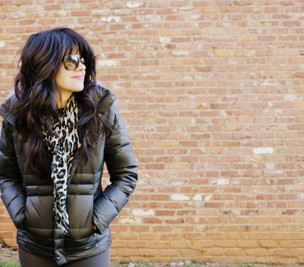 puffy jacket, jacket, columbia