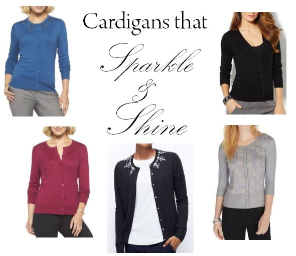 cardigans, target, new york and company, black house white market, ann taylor, cardigans with sparkles, sparkly sweaters, sweaters with bling