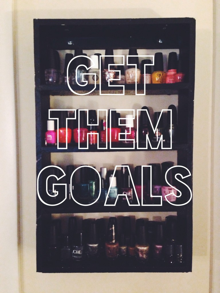 nail polishes, nail polish holder, goals, how to set goals, what goals to set