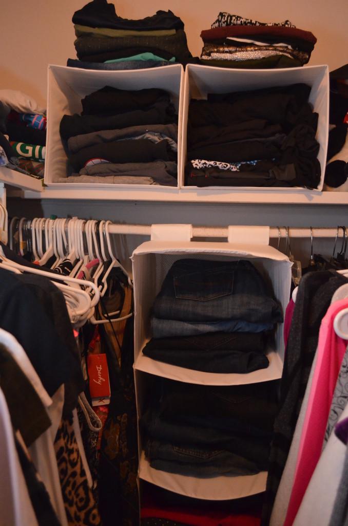 closet cleanse, how to clean your closet, organized closet, closet