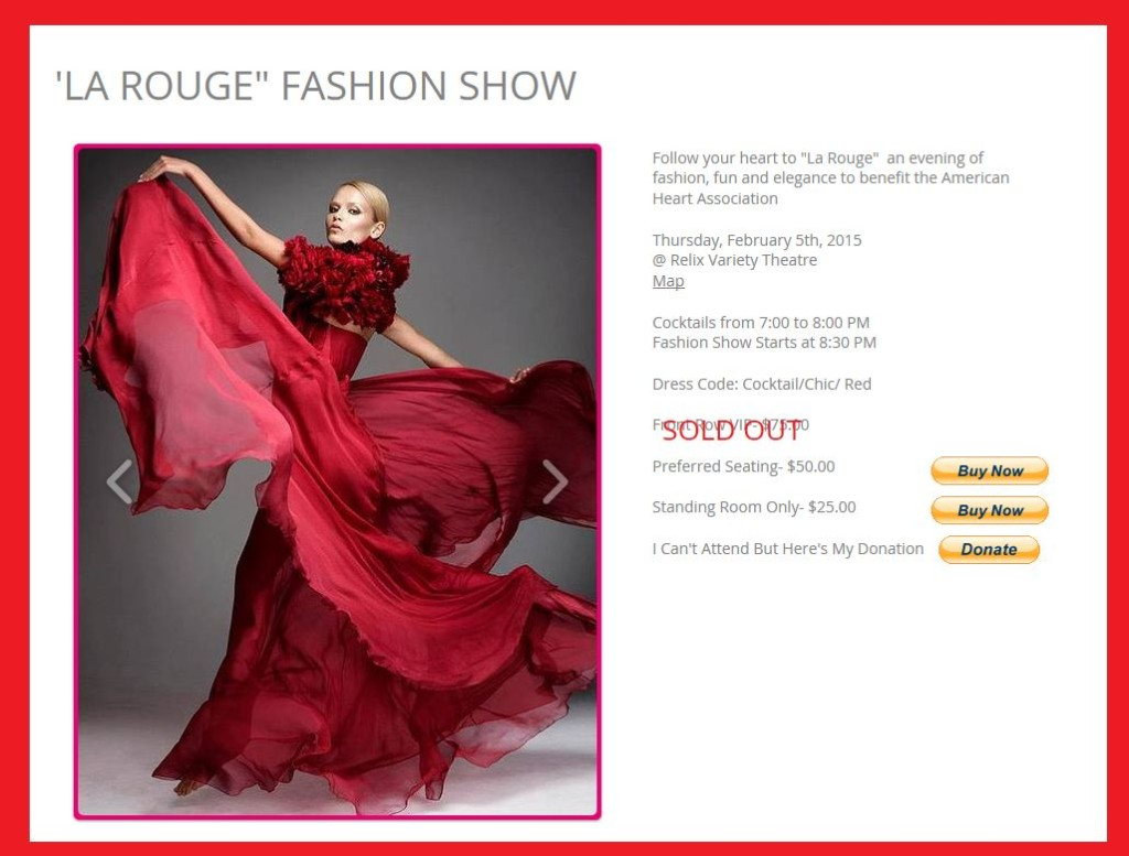 rouge fashion show, claire quiesser, knoxville fashion, american heart association