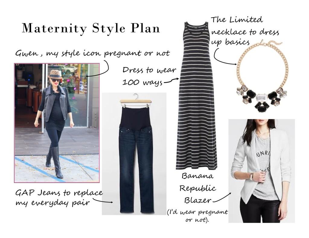 gap, maternity clothes, maternity, maternity style, the limited, banana republic, gwen steffani, statement necklace, blazer, white blazer