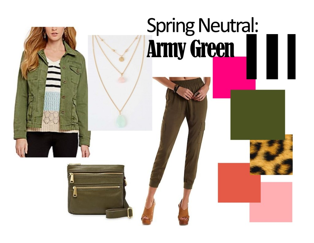 army green, spring, what to wear this spring, what to wear with army green, fashion blog, knoxville fashion, fashion blogger, west town mall, dillard's, altar'd state, charlotte russe, fossil, belk,