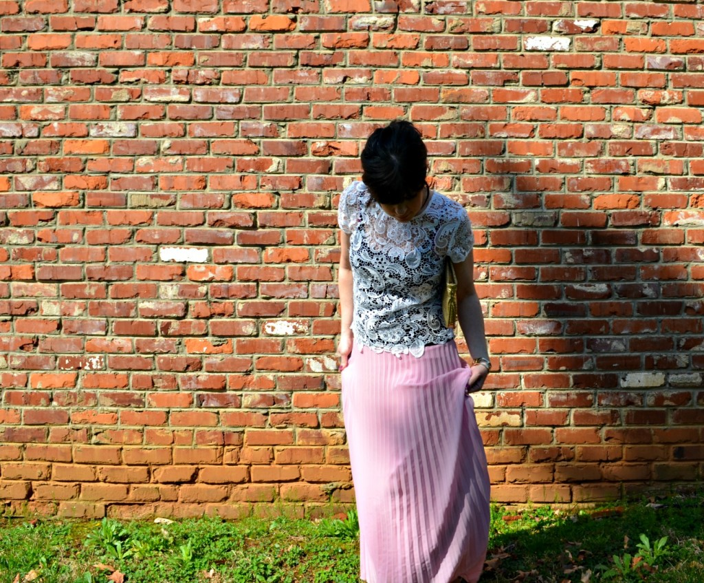 lace, pink, jcpenney, fashion blog, pink skirt, knoxville fashion, ross