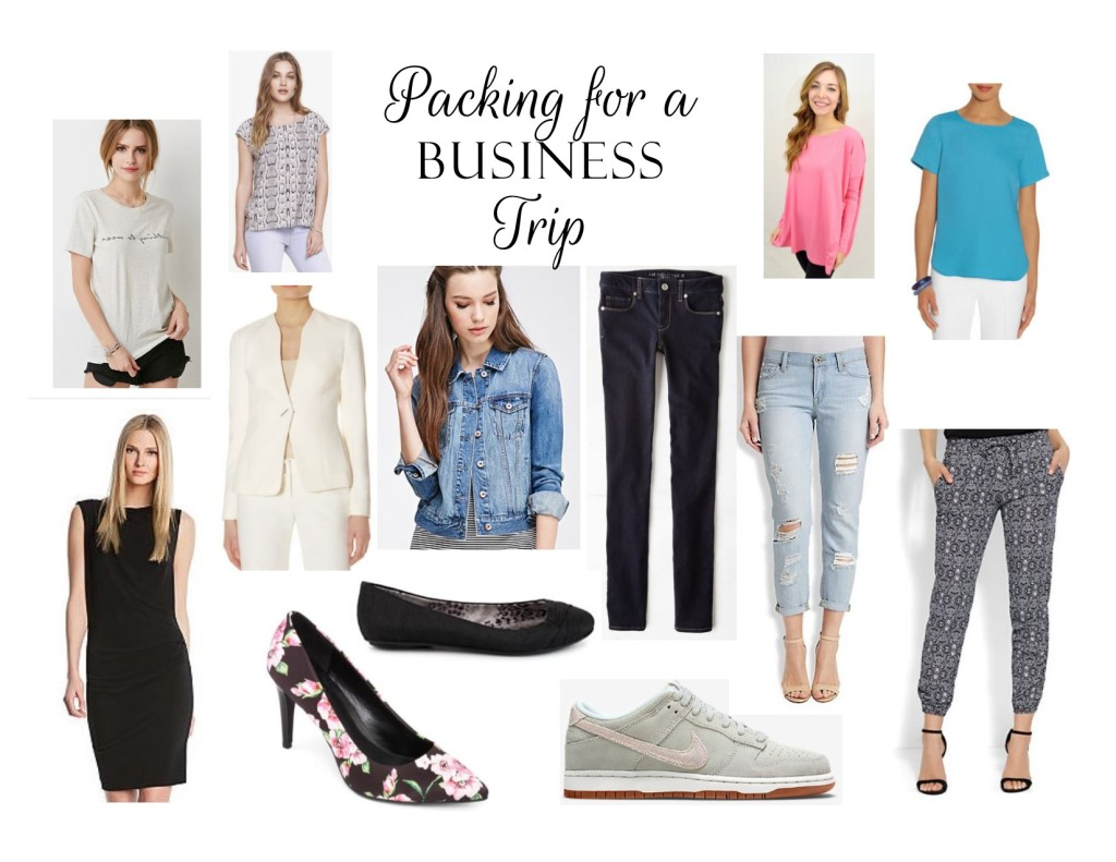 how to pack for a business trip, packing, business trip packing, how to pack, jcp, the limited, american eagle jeans, little black dress, packing list, how to pack, business trip, new york and co., packing, business clothes