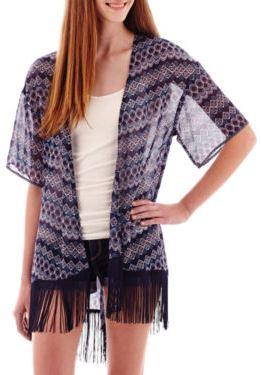 fringe, what's tending, trends, fashion blog, fringe kimono, kimono, jcpenney, west town mall