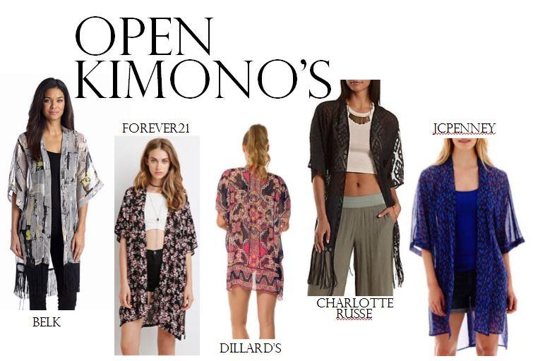 kimonos, belk, dillard's, jcp, forever21, charlotte russe, summer style, kimonos, how to wear a kimono, fashion blog, printed kimono