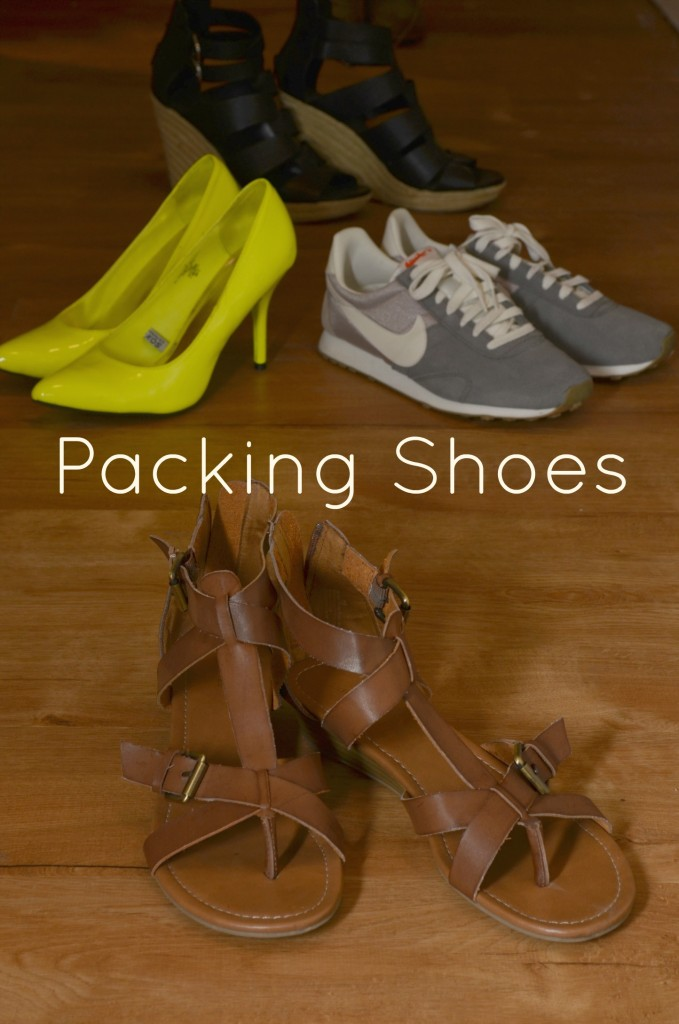 packing shoes, shoes, what shoes to pack, vacation packing, summer shoes, summer shoe packing, packing for a getaway, how to pack