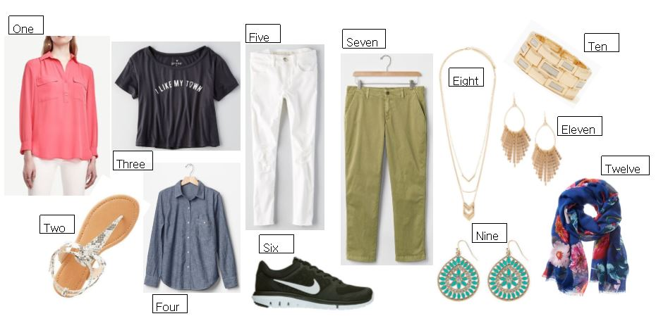 the limited, gap chinos, american eagle outfitters, white jeans, spring outfit inspiration, gold jewelry, knoxville fashion blogger, west town mall, spring scarf, nike shoes, spring sandals, graphic tee, chambray shirt, gap, charming charlie