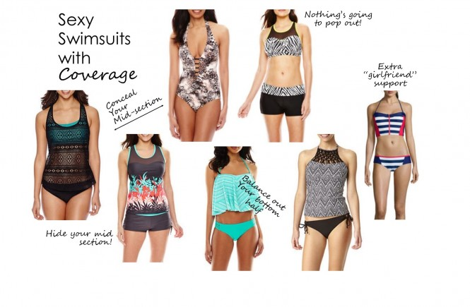 jcp, swimsuits, jcp swimsuits, knoxville fashion blogger, popular tennessee fashion blogger, west town mall, jcpenney, swimsuits that give you coverage, appropriate swim suits