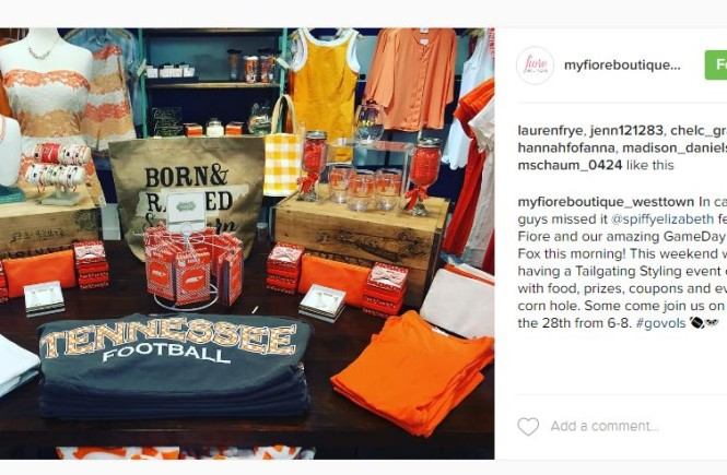 fiore boutique, west town mall, vol apparel, knoxville fashion, knoxville game day fashion, knoxville fashion blogger, west town mall style consultant