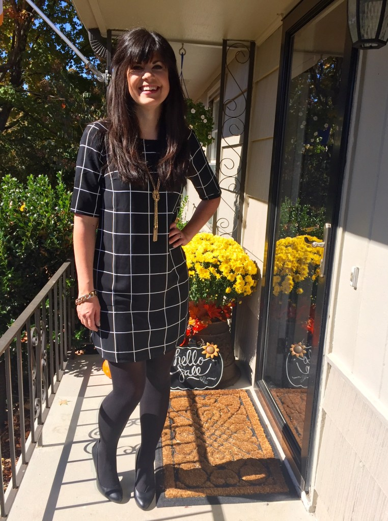 pattterned dress, styling a dress, fall styling, fall fashion, knoxville fashion, knoxville fall fashion, style consultant elizabeth ogle, elizabeth ogle, knoxville fashion blogger, knoxville blogger, knoxville style, fashion blogger elizabeth ogle, how to wear a dress in fall, fall tights, target style