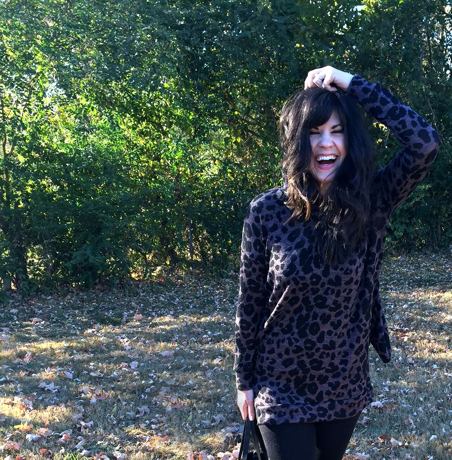 Pink blush, shop pink blush, tunic, shopping outfit, knoxville fashion blogger, elizabeth ogle, knoxville fashion, fashion blog, southern fashion blog, leopard tunic, leopard top, giveaway, instagram giveaway, clothing giveaway