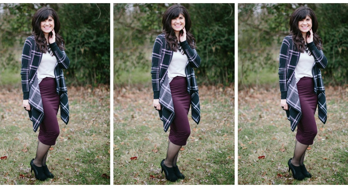 ootd, knoxville fashion, knoxville fashion blog, midi pencil skirt, pencil skirt outfit, skirt and sweater outfit, professional look for moms, mom blog, knoxville mom blog, forever21 for moms, waterfall sweater outfit, february sweater outfit, west town mall, west town mall style