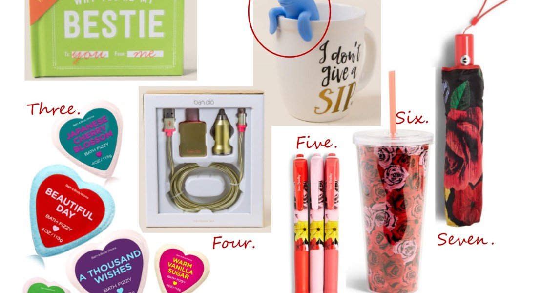 valentine's day gift ideas, cute valentine's day gifts, west town mall, knoxville blogger, west town mall gift ideas, gift ideas for valentine's day, bath bomb, cheap vera bradley, friend gifts for valentine's day
