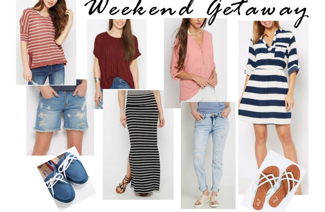what to pack, rue21, west town mall, what to pack for a weekend, what to wear this weekend, rue21 outfits, striped dress, distressed shorts, maxi skirt, west town mall style consultant, knoxville fashion, knoxville fashion blogger
