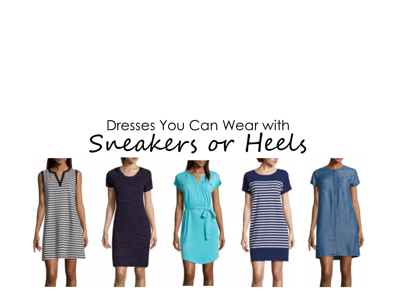 Dresses You Can Wear with Sneakers or Heels