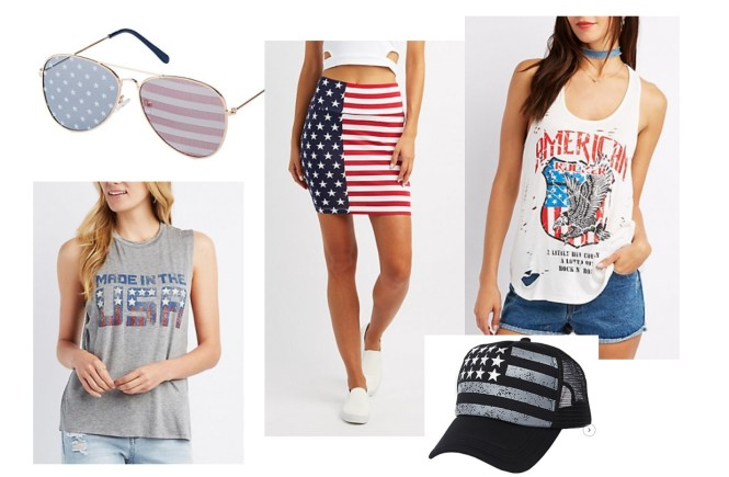 fourth of july swag, how to look cute on the fourth of july, west town mall, charlotte russe
