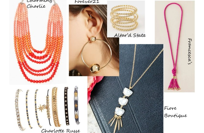 summer accessories, west town mall, what to wear this summer, statement necklaces, charlotte russe in west town mall, altar'd state in west town mall, west town mall style consultant, elizabeth ogle, knoxville fashion