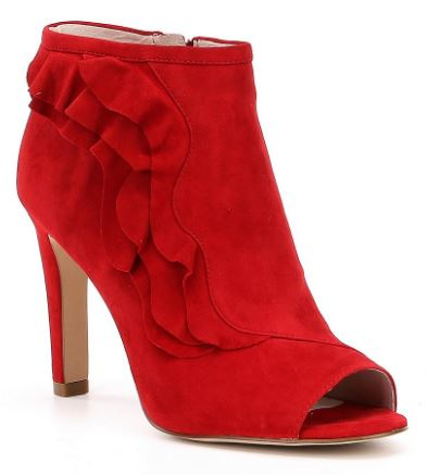 fall boot trends 2017, fall boot trends, fall fashion 2017, red booties, red ankle boots, knoxville fashion, knoxville fall fashion, red shoes, how to wear red shoes