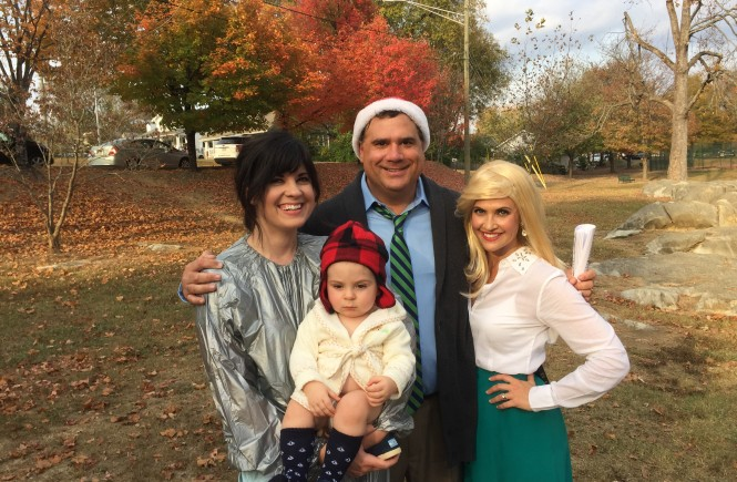 live at five at four, halloween costume ideas, christmas vacation costumes, baby boy costume idea