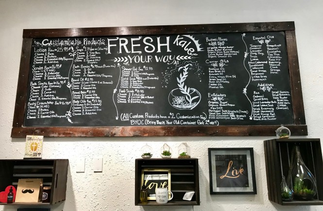 fresh kale bath company, west town mall, shop local, where to get homemade soap, fresh scents, bath products that are good for you, knoxville made products, essential oil products knoxville