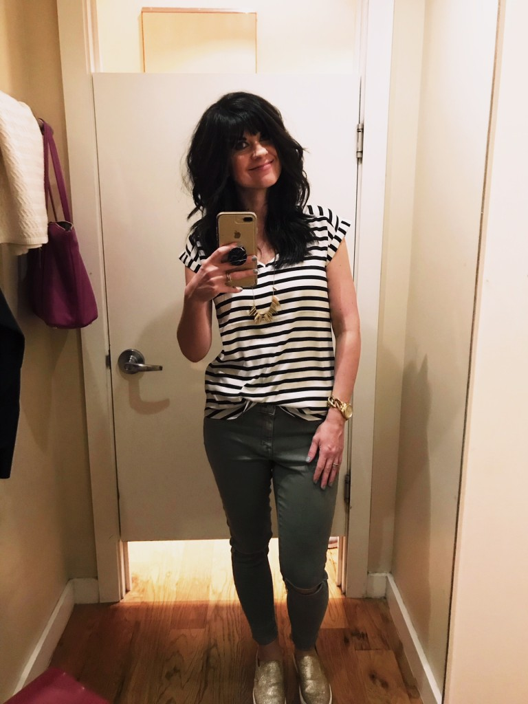 express, west town mall, striped top, knoxville blogger, knoxville fashion blogger