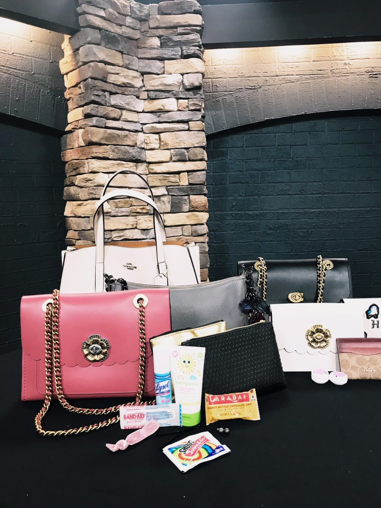 west town mall, coach, coach bags, how to pack a purse, what to put in your purse, what to put in your purse for a toddler, style help, style blogger, dark disney with coach, fox43, ten news this morning