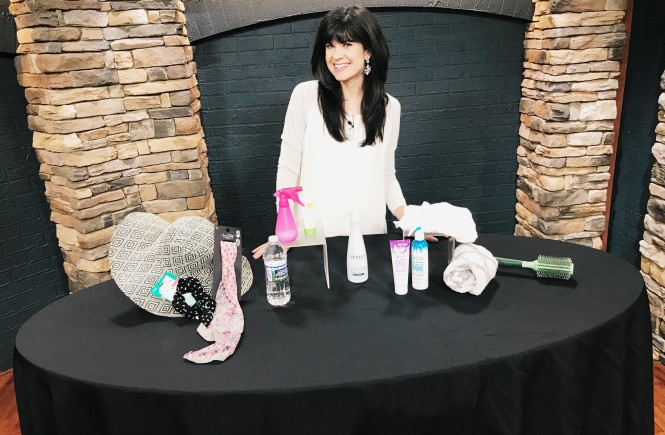 summer hair care, summer hair, how to style hair in the summer, how to protect your hair from the heat, knoxville beauty blogger, ten news this morning, wbir, fox43, elizabeth ogle, beauty blogger