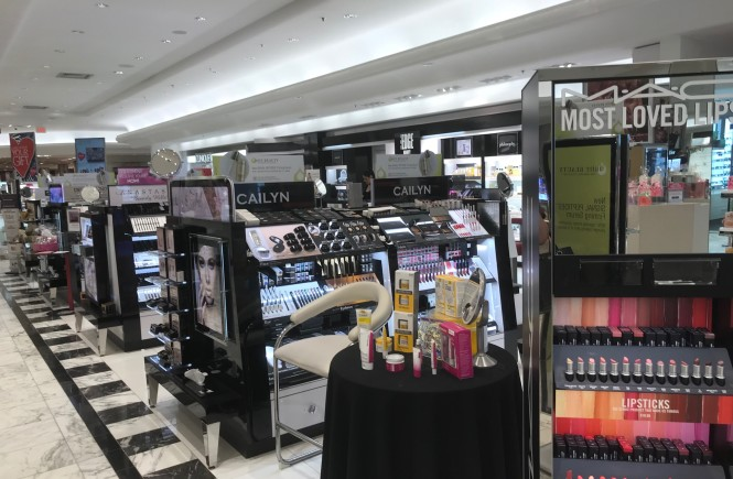 west town mall, dillards in west town mall, the edge beauty in dillards, knoxville beauty blogger, edge at dillards, beauty services in store, knoxville beauty services
